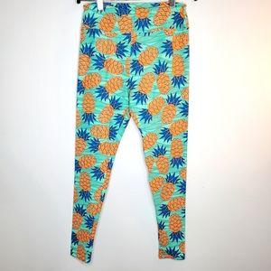 LULAROE *HTF* Super Soft Pineapple 🍍 Tall & Curvy